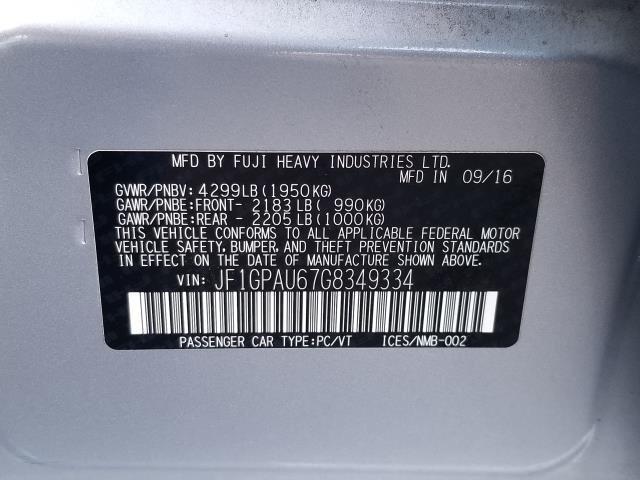 2016 Subaru Impreza Wagon 5dr CVT 2.0i Sport Limited 29