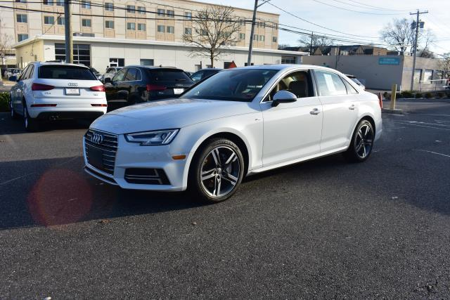 Glacier White Metallic 2017 Audi A4 PREMIUM PLUS 4dr Car Huntington NY