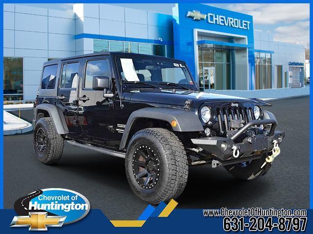 Black 2015 Jeep Wrangler Unlimited SPORT SUV Huntington NY