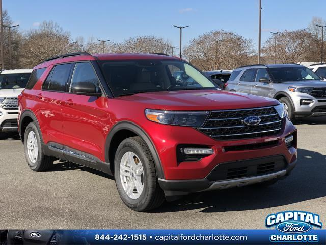 Rapid Red Metallic Tinted Clearcoat 2020 Ford Explorer XLT 4D Sport Utility Charlotte NC