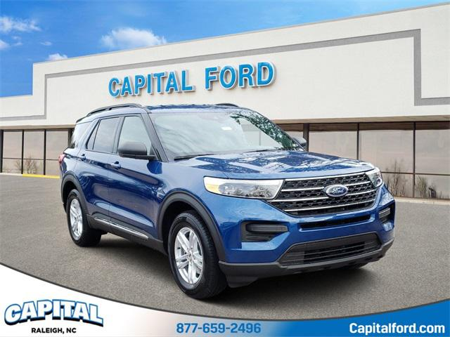 Blue Metallic 2020 Ford Explorer XLT 4D Sport Utility Raleigh NC