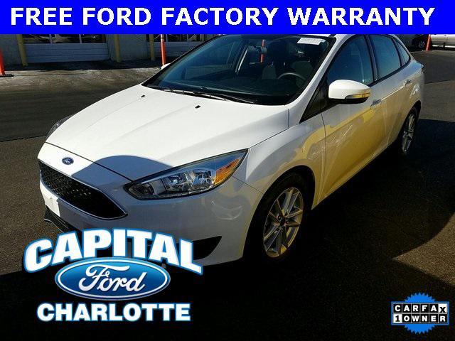 Oxford White 2016 Ford Focus SE 4dr Car Charlotte NC