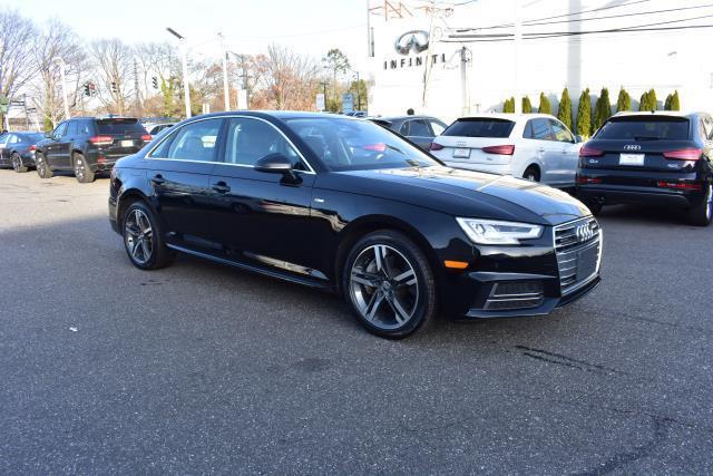 Brilliant Black 2017 Audi A4 PREMIUM PLUS 4dr Car Huntington NY