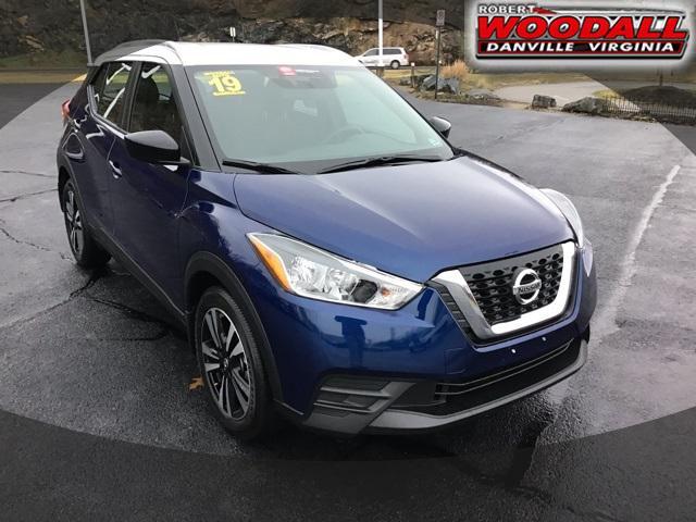 Deep Blue Pearl 2019 Nissan Kicks SV SUV Danville VA