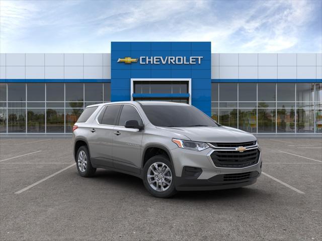 Silver Ice Metallic 2020 Chevrolet Traverse LS SUV Huntington NY