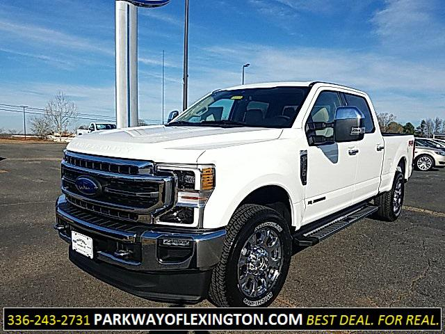 Star White Metallic Tri-Coat 2020 Ford F-250SD LARIAT 4D Crew Cab Lexington NC