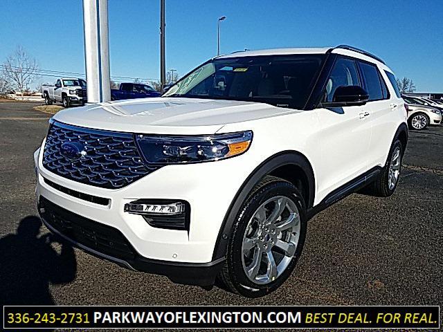 Star White Metallic Tri-Coat 2020 Ford Explorer PLATINUM 4D Sport Utility Lexington NC