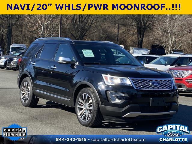 Shadow Black 2017 Ford Explorer PLATINUM 4D Sport Utility Charlotte NC