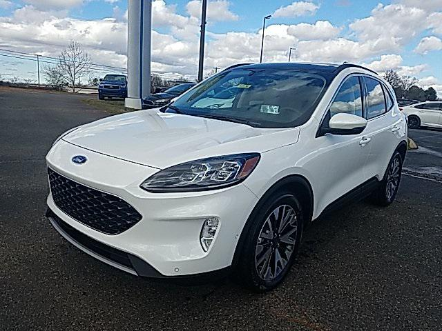 Star White Metallic Tri-Coat 2020 Ford Escape TITANIUM HYBRID 4D Sport Utility Lexington NC