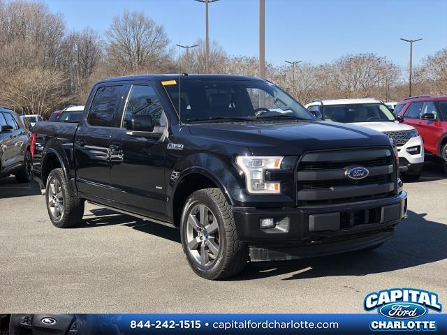 Shadow Black 2017 Ford F-150 Lariat 4D SuperCrew Charlotte NC