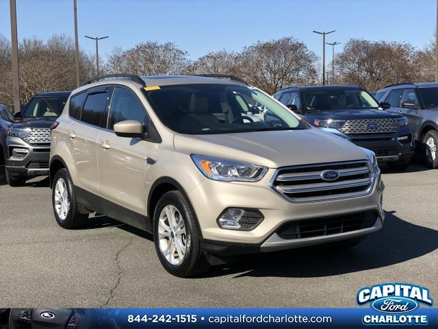 White Gold Metallic 2018 Ford Escape SEL 4D Sport Utility Charlotte NC