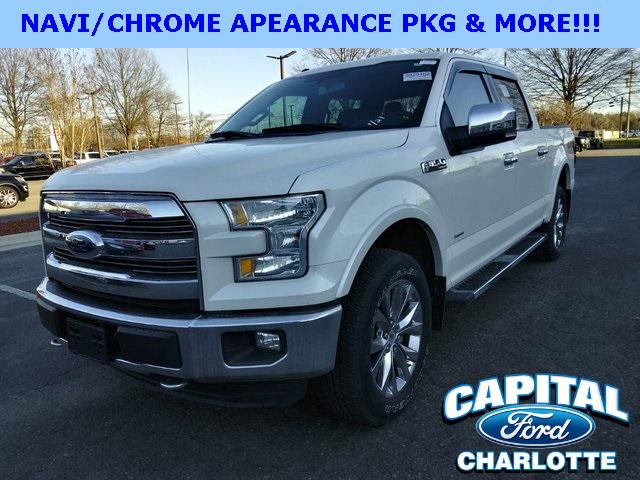 White Platinum Metallic Tri-Coat 2016 Ford F-150 LARIAT 4D SuperCrew Charlotte NC