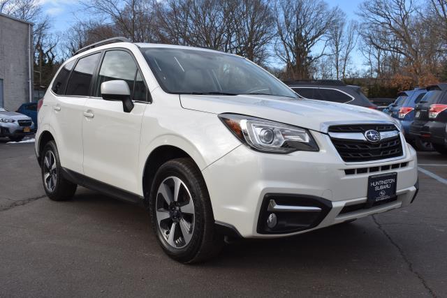 Crystal White Pearl 2018 Subaru Forester LIMITED SUV Huntington NY