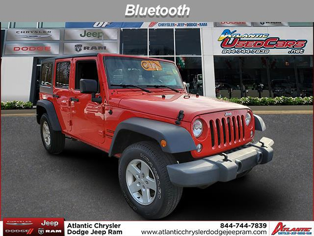 Firecracker Red Clearcoat 2017 Jeep Wrangler Unlimited Sport SUV Huntington NY