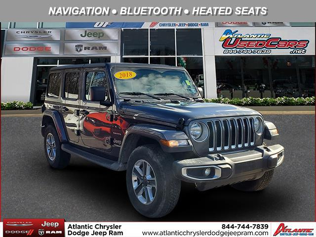 Granite Crystal Metallic Clearcoat 2018 Jeep Wrangler Unlimited SAHARA SUV Huntington NY