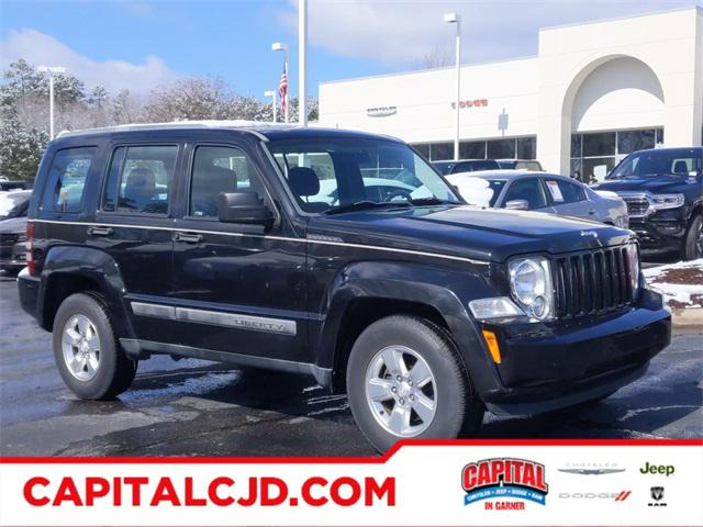 Brilliant Black Crystal Pearl 2011 Jeep Liberty SPORT SUV Garner NC