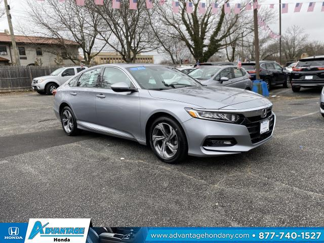 Modern Steel Metallic 2018 Honda Accord Sedan EX-L NAVI 1.5T 4dr Car Manhasset NY