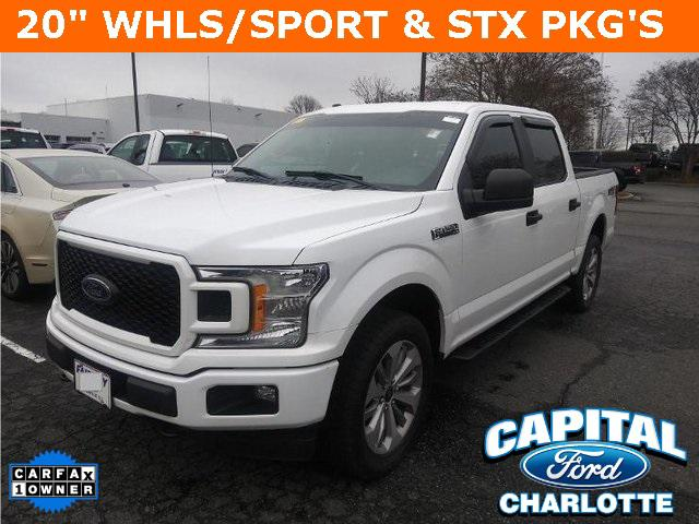 Oxford White 2018 Ford F-150 XL 4D SuperCrew Charlotte NC