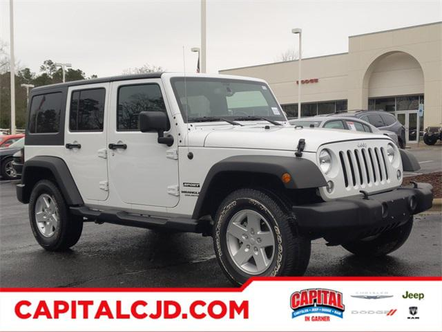 Bright White Clearcoat 2017 Jeep Wrangler Unlimited SPORT SUV Garner NC