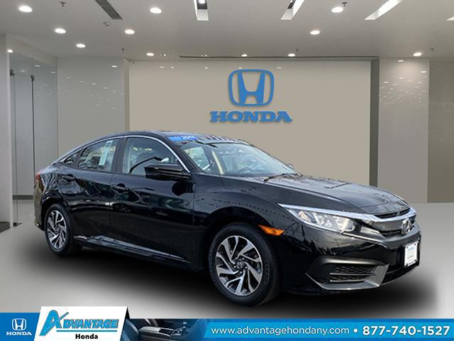 Crystal Black Pearl 2017 Honda Civic Sedan EX 4dr Car Huntington NY