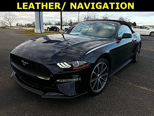 Shadow Black 2019 Ford Mustang ECOBOOST PREMIUM 2D Convertible Lexington NC
