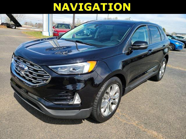 Agate Black Metallic 2019 Ford Edge TITANIUM 4D Sport Utility Lexington NC