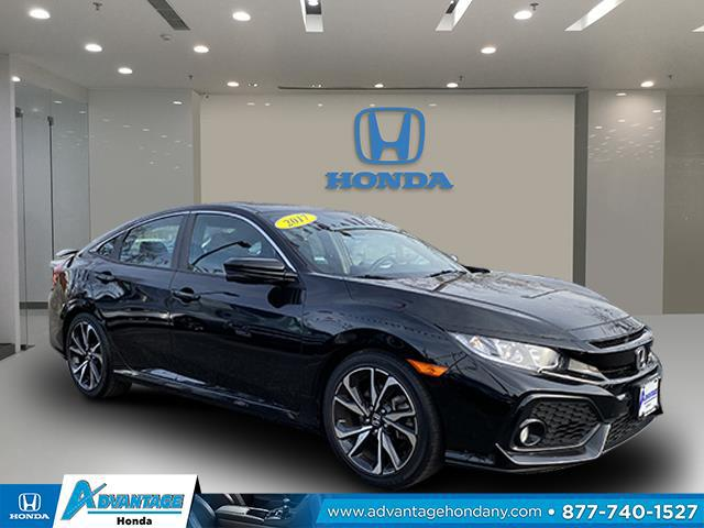 Crystal Black Pearl 2017 Honda Civic Sedan SI 4dr Car Huntington NY