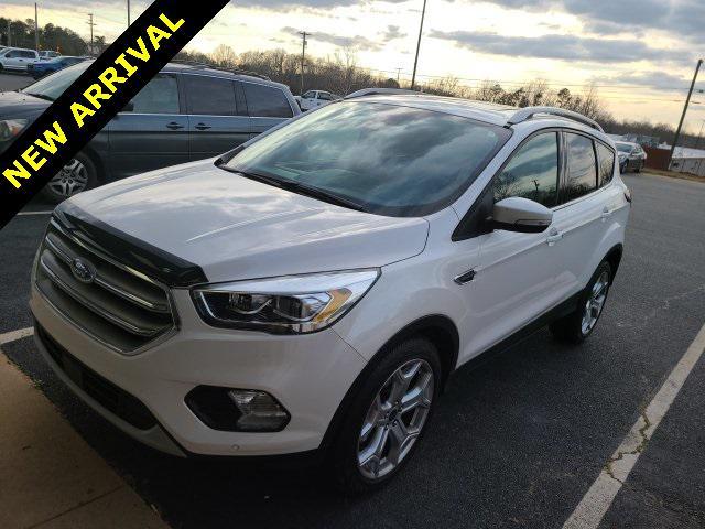 White Platinum Metallic Tri-Coat 2017 Ford Escape TITANIUM 4D Sport Utility Lexington NC