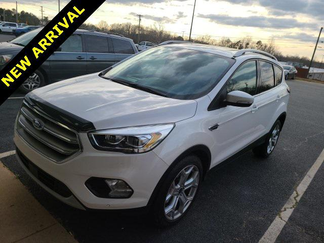 White Platinum Metallic Tri-Coat 2017 Ford Escape TITANIUM 4D Sport Utility Lexington NC